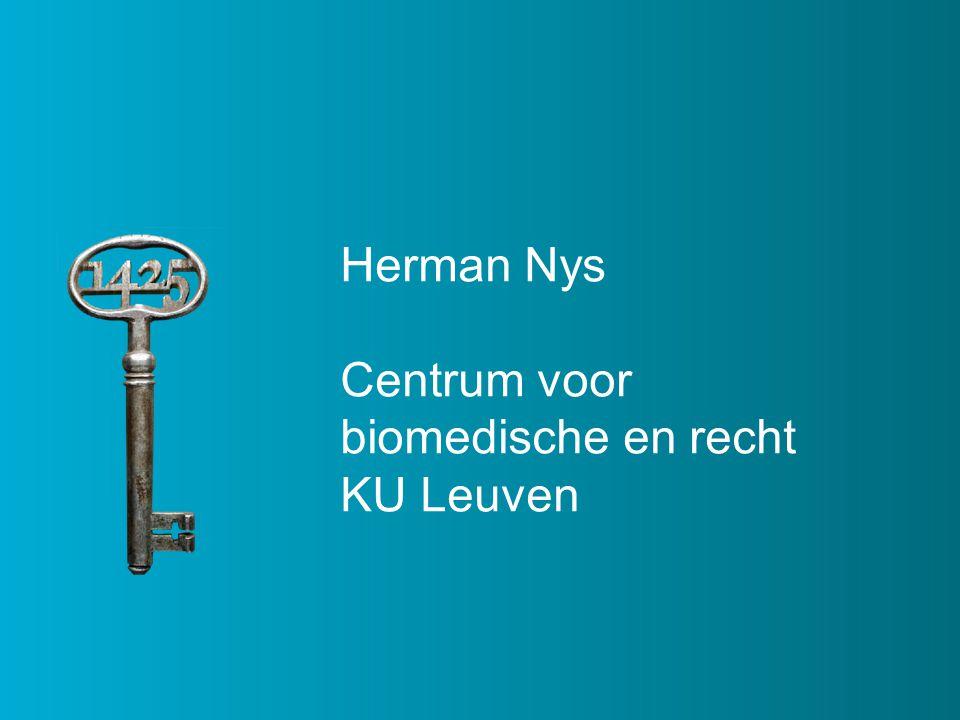 Herman Nys Centrum voor biomedische en recht KU Leuven