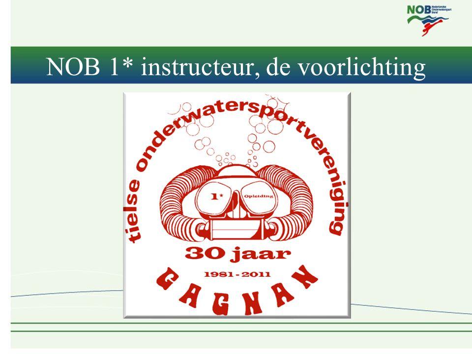NOB 1* instructeur, de voorlichting
