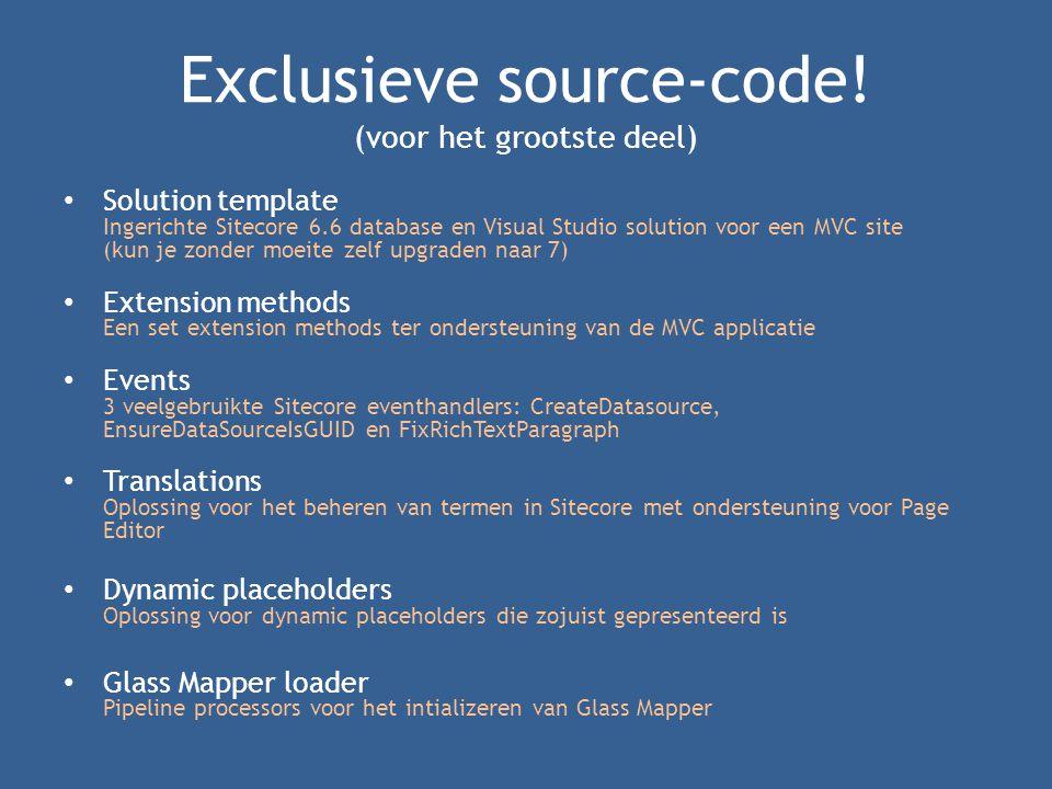 Exclusieve source-code.