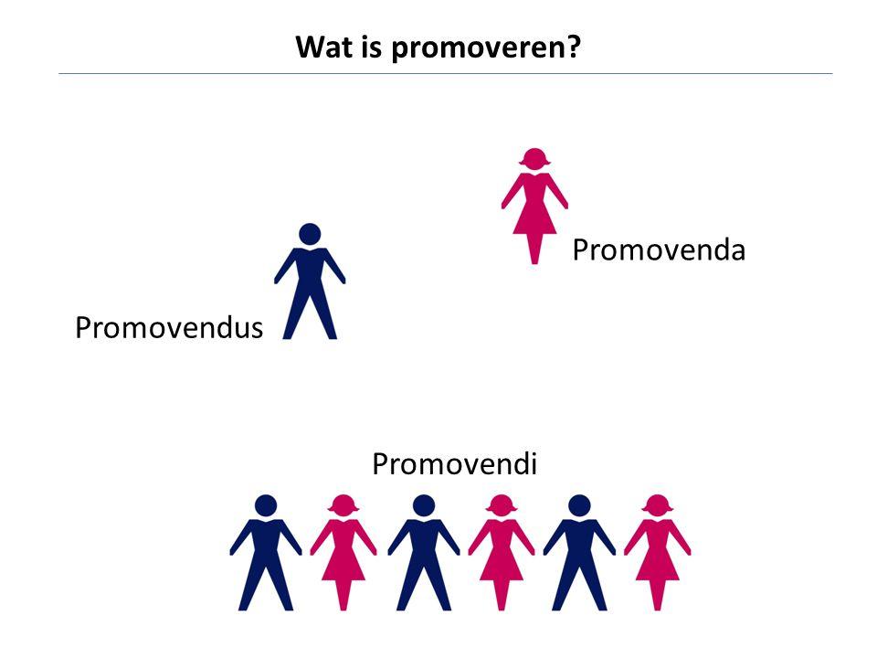 Promovendus Promovenda Promovendi Wat is promoveren?