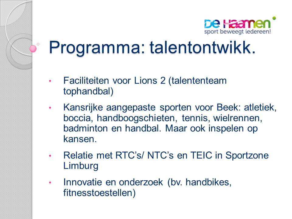 Programma: talentontwikk.