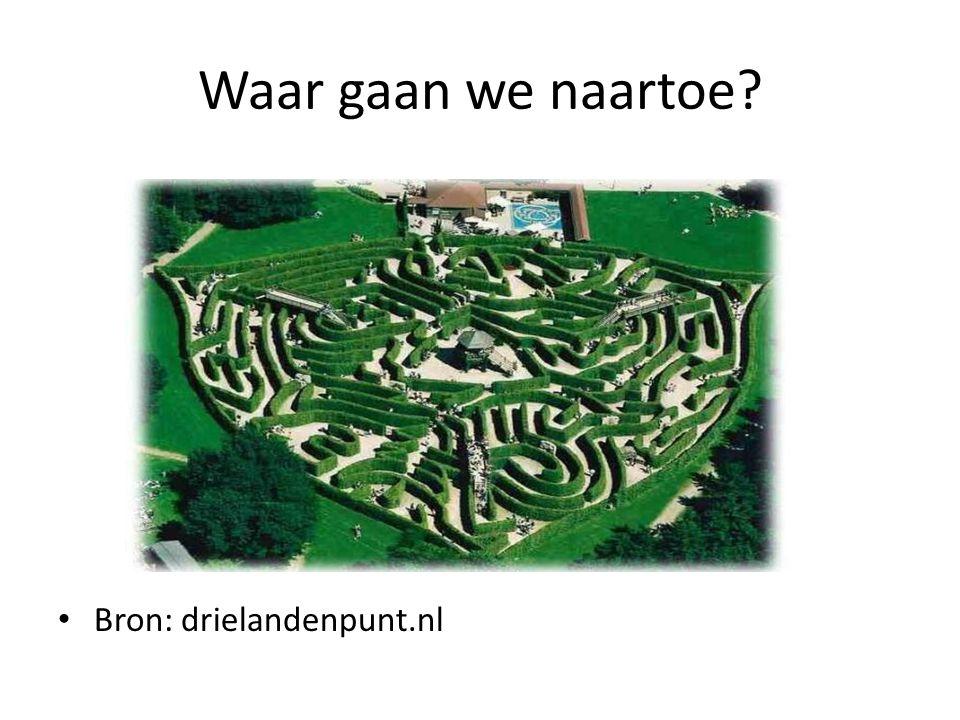 Waar gaan we naartoe? • Bron: drielandenpunt.nl