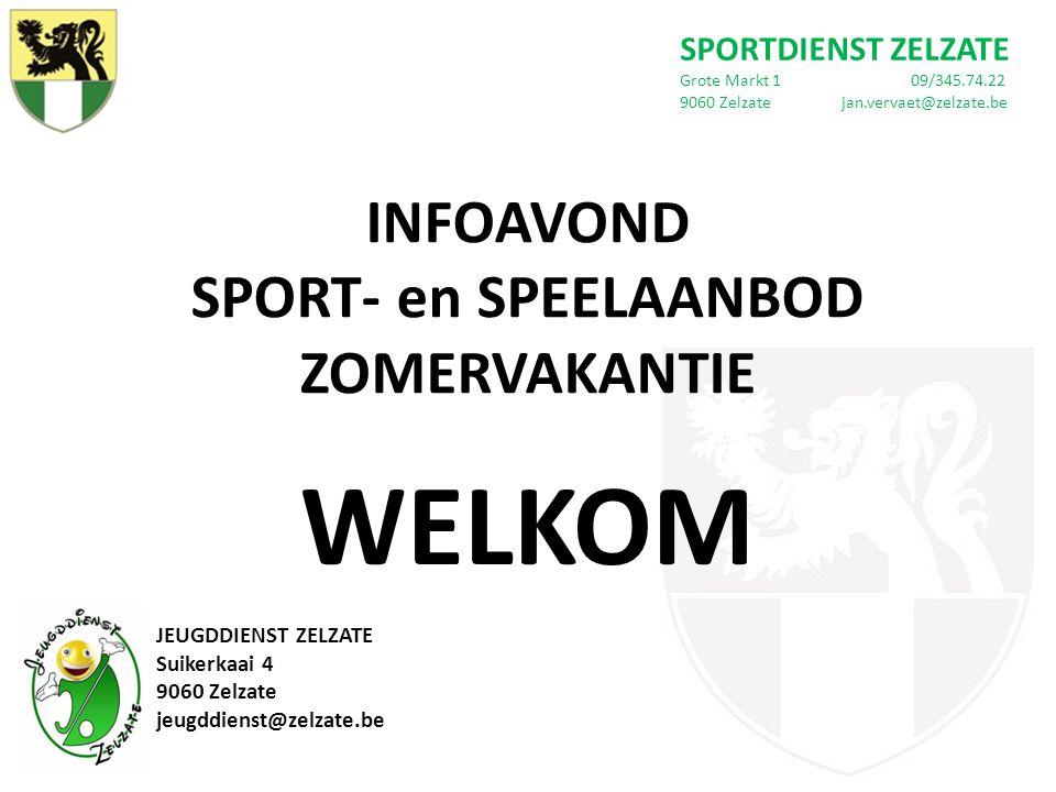 INFOAVOND SPORT- en SPEELAANBOD ZOMERVAKANTIE Voorwoord Burgemeester en Schepen van Sport Frank Bruggeman Schepen van Jeugd Kristof Stevelinck Inhoud 1.