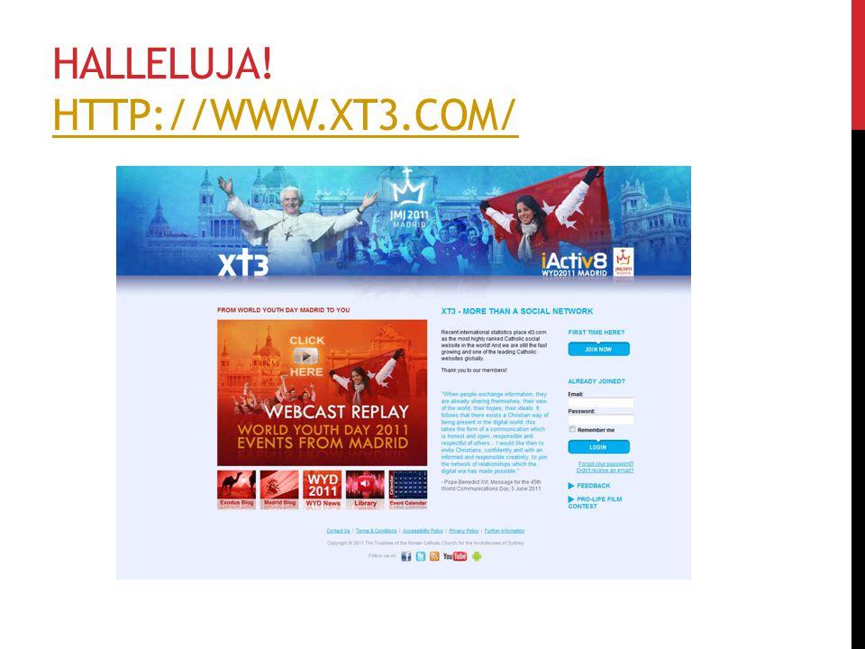 HALLELUJA! HTTP://WWW.XT3.COM/ HTTP://WWW.XT3.COM/