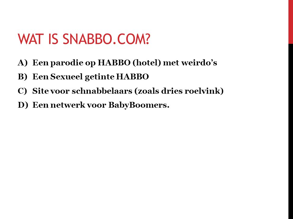 WAT IS SNABBO.COM.
