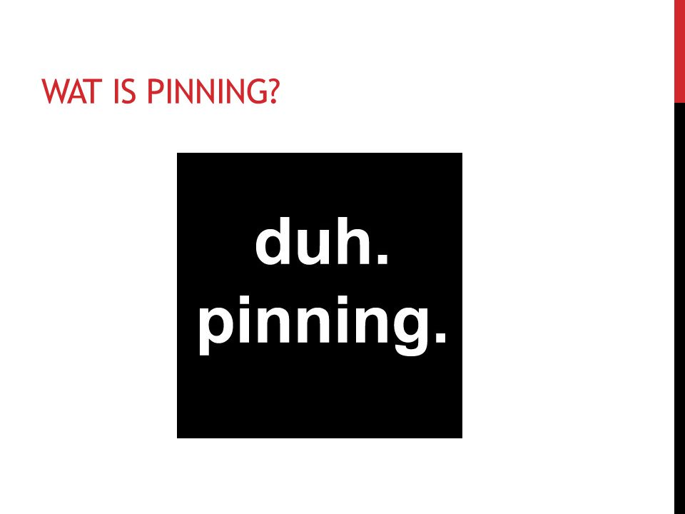WAT IS PINNING