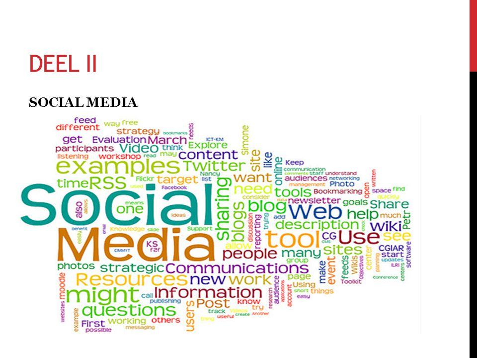 DEEL II SOCIAL MEDIA