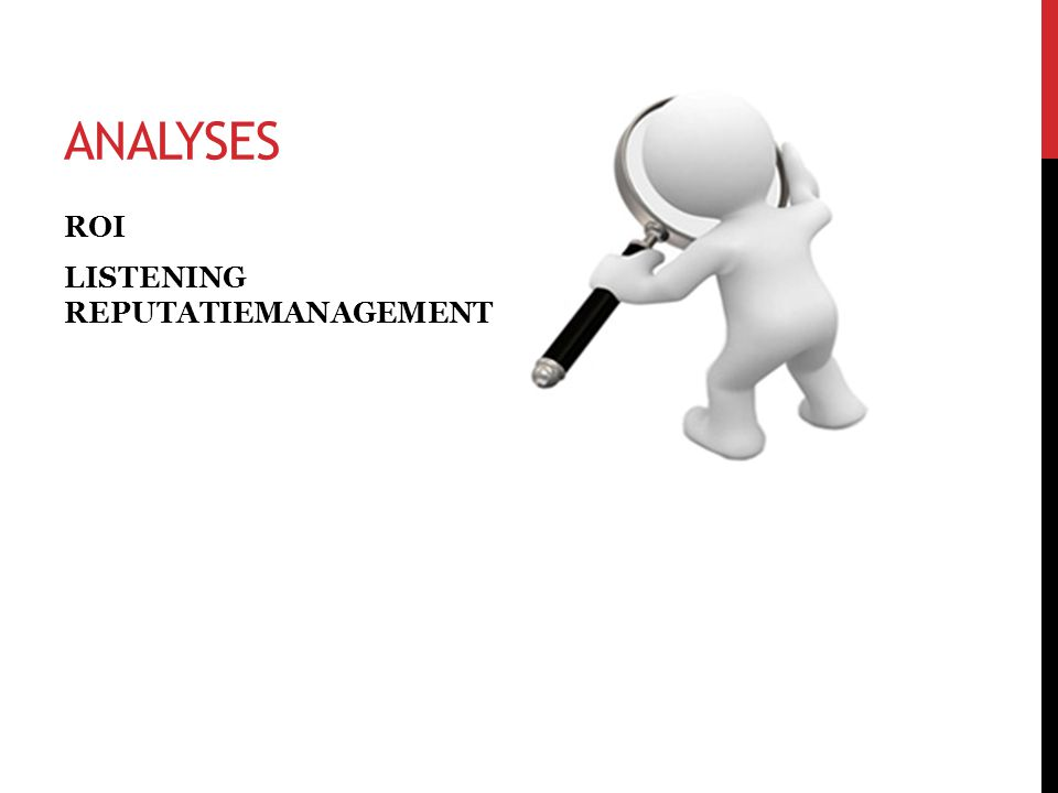 ANALYSES ROI LISTENING REPUTATIEMANAGEMENT