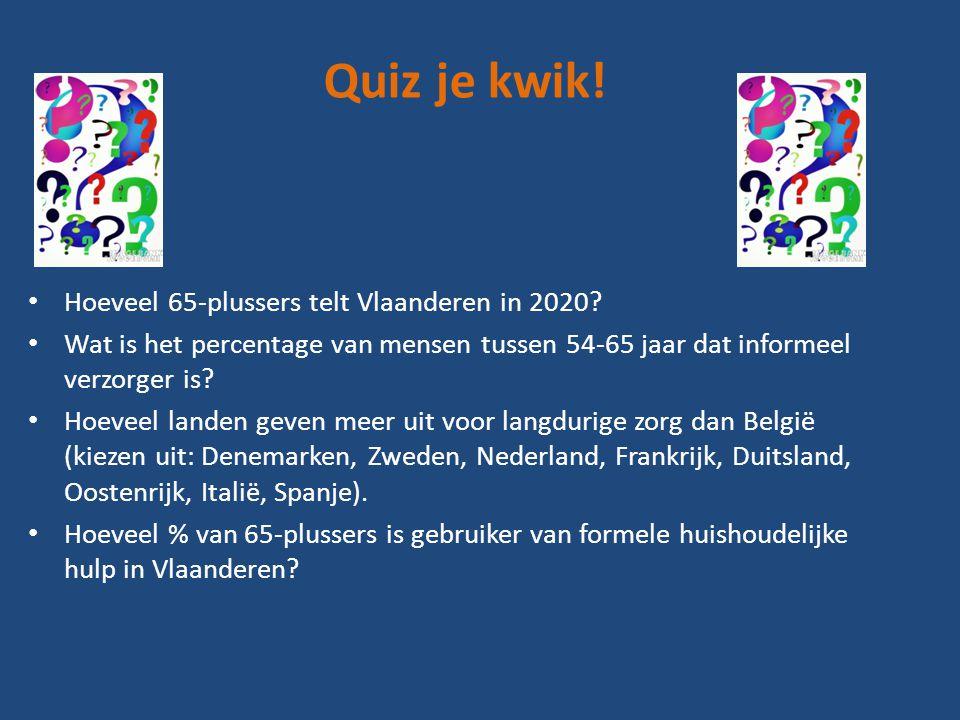 Quiz je kwik. • Hoeveel 65-plussers telt Vlaanderen in 2020.