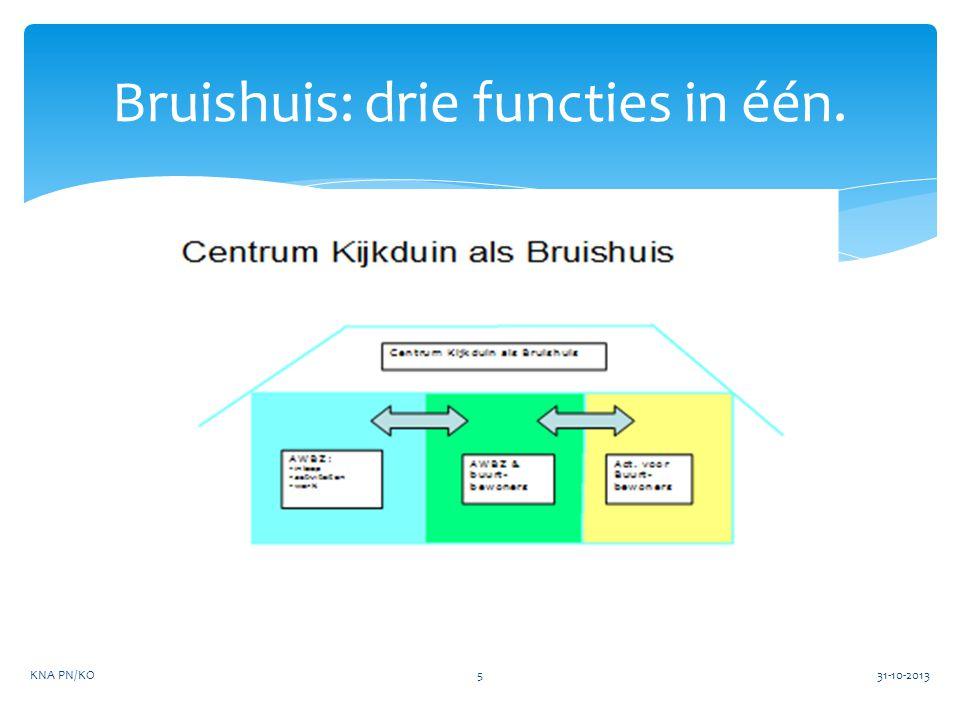 Bruishuis: drie functies in één. 31-10-2013KNA PN/KO5