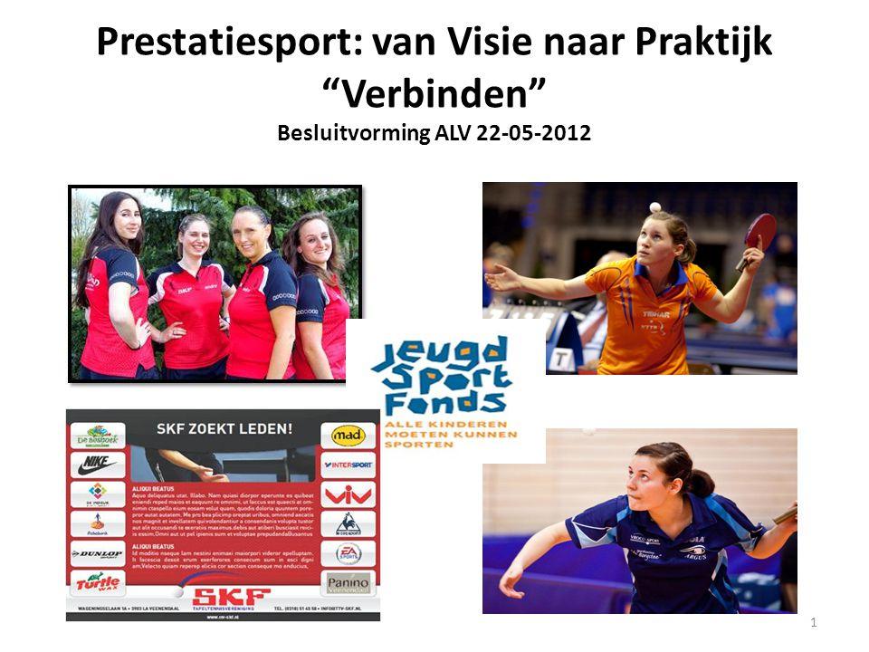 """Prestatiesport: van Visie naar Praktijk """"Verbinden"""" Besluitvorming ALV 22-05-2012 1"""