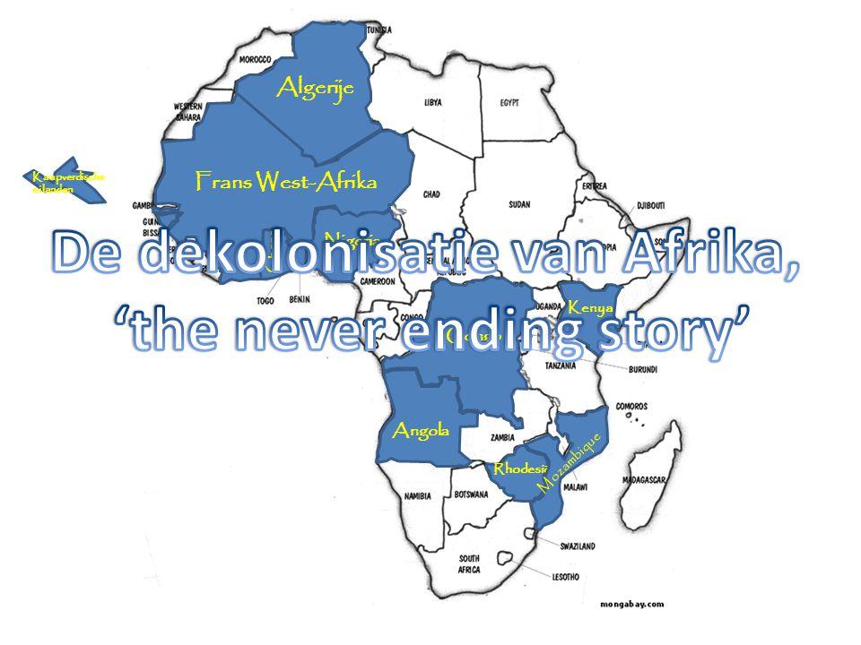 Nigeria Congo Kenya Ghana Rhodesië Angola Mozambique Kaapverdische eilanden Frans West-Afrika Algerije