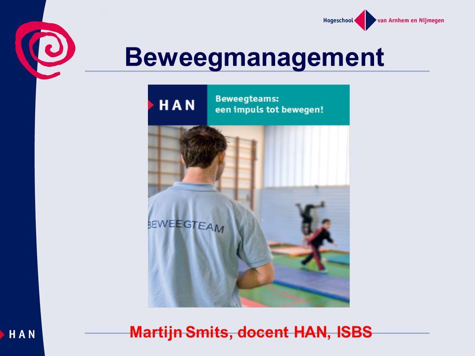 Inhoud  Beweegmanagement  Beweegteams  Verenigingsanalyse  Combinatiefuncties  Buurtsportcoaches  Minor school en sport