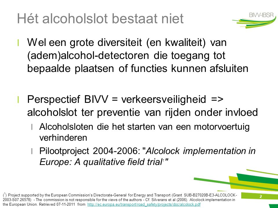 13 Gebruik internationaal ׀Penetration of interlocks now about 10-15 % of DUI in USA (Marques, 2009) http://www.bast.de/nn_789794/DE/Publikationen/Veranstaltungen/U4-Wegfahrsperren-2009/U4- marques,templateId=raw,property=publicationFile.pdf/U4-marques.pdf http://www.bast.de/nn_789794/DE/Publikationen/Veranstaltungen/U4-Wegfahrsperren-2009/U4- marques,templateId=raw,property=publicationFile.pdf/U4-marques.pdf ׀International inventory of interlock programs: in North America, it is estimated that 160 000 people have an alcohol interlock installed in their vehicle ( population 300 x 106 ) http://iiip.tirf.ca/about/around_world.php ׀Canada: 11 000 devices in use at any given time (population 30 x 10 6 ) - http://www.tirf.ca/publications/publications_show.php?pub_id=239 http://www.tirf.ca/publications/publications_show.php?pub_id=239