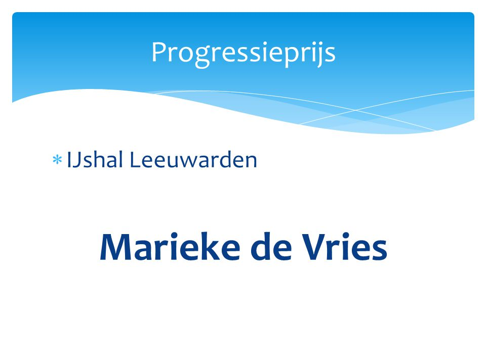  IJshal Leeuwarden Marieke de Vries Progressieprijs
