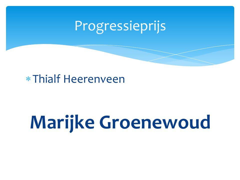 Thialf Heerenveen Marijke Groenewoud Progressieprijs