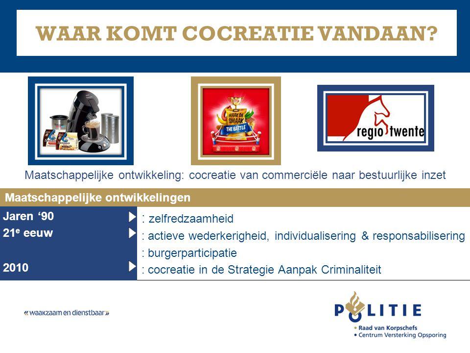 : zelfredzaamheid : actieve wederkerigheid, individualisering & responsabilisering : burgerparticipatie : cocreatie in de Strategie Aanpak Criminalite