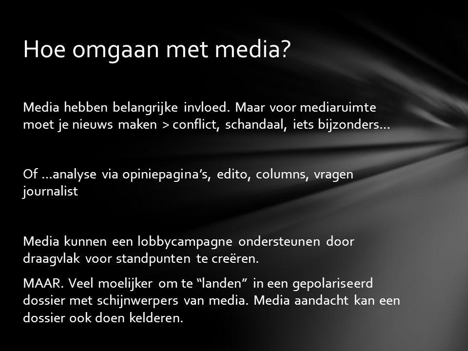 Hoe omgaan met media. Media hebben belangrijke invloed.