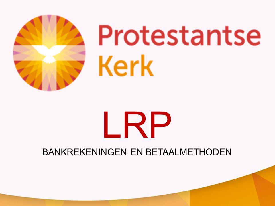 LRP BANKREKENINGEN EN BETAALMETHODEN