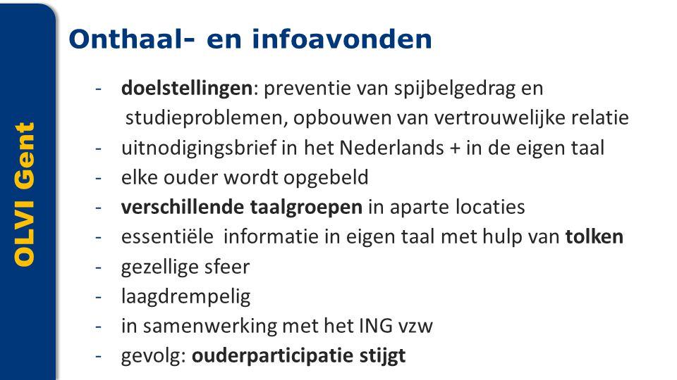 OLVI Gent -doelstellingen: preventie van spijbelgedrag en studieproblemen, opbouwen van vertrouwelijke relatie -uitnodigingsbrief in het Nederlands +