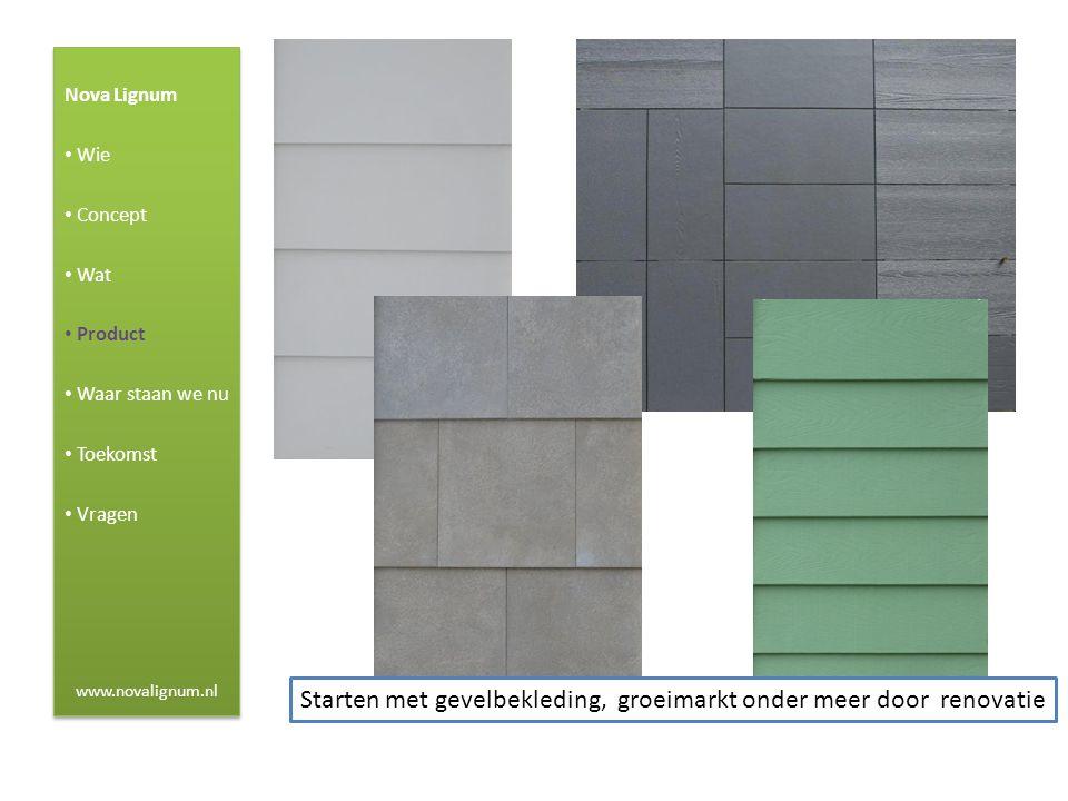 Nova Lignum • Wie • Concept • Wat • Product • Waar staan we nu • Toekomst • Vragen www.novalignum.nl Nova Lignum • Wie • Concept • Wat • Product • Waa