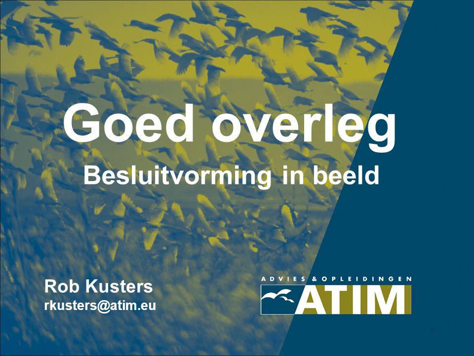 0 Goed overleg Besluitvorming in beeld Rob Kusters rkusters@atim.eu
