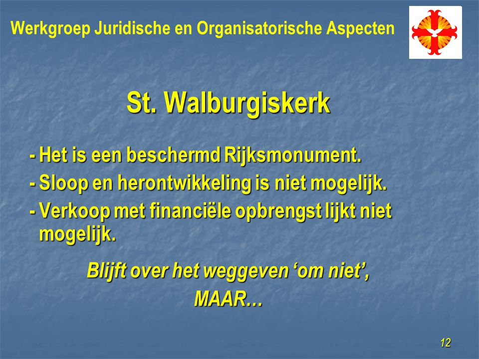 St. Walburgiskerk -Het is een beschermd Rijksmonument.