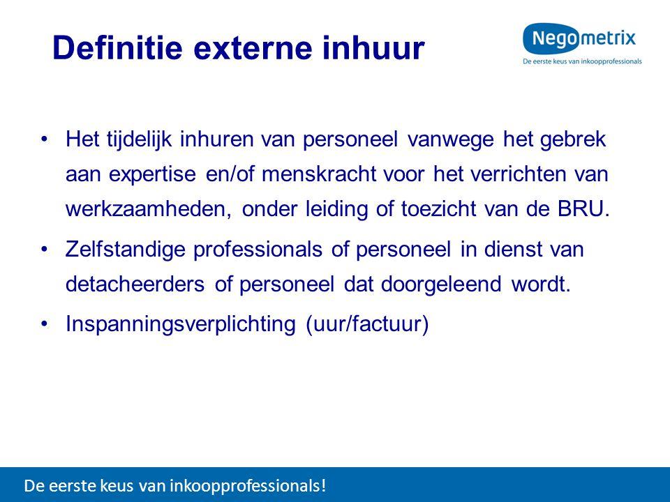 •Het tijdelijk inhuren van personeel vanwege het gebrek aan expertise en/of menskracht voor het verrichten van werkzaamheden, onder leiding of toezich