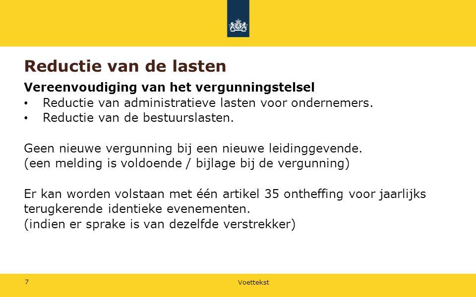 Voettekst 8 Bevoegdheden Verordenende bevoegdheden Verplicht: Regelen van de alcoholverstrekking in sport- en andere kantines.