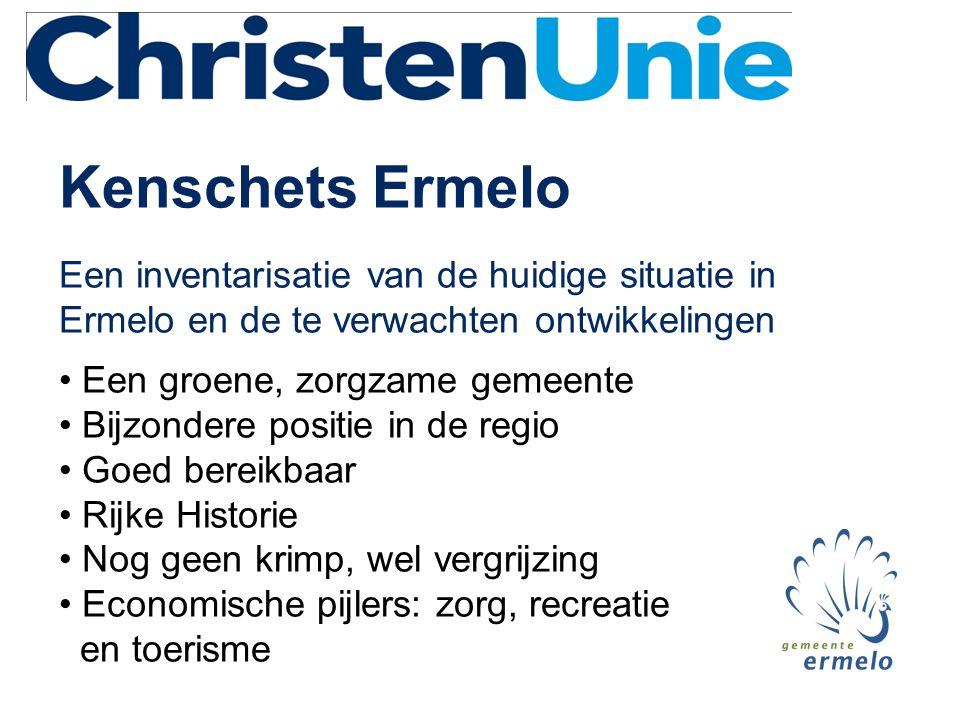 Kenschets Ermelo Een inventarisatie van de huidige situatie in Ermelo en de te verwachten ontwikkelingen • Een groene, zorgzame gemeente • Bijzondere