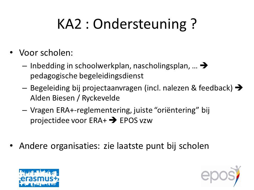 KA2 : Ondersteuning .