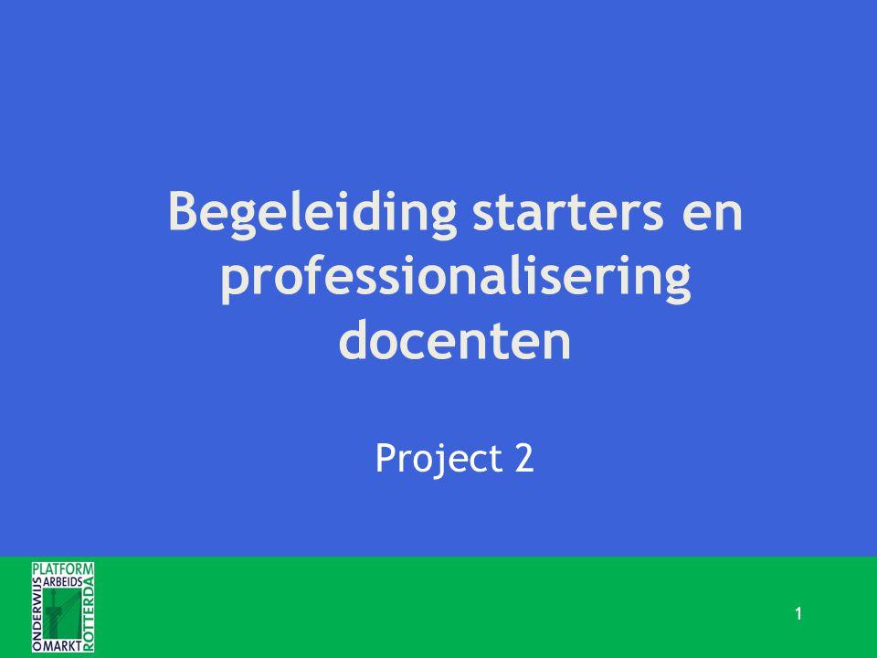 Begeleiding starters en professionalisering docenten Project 2 1