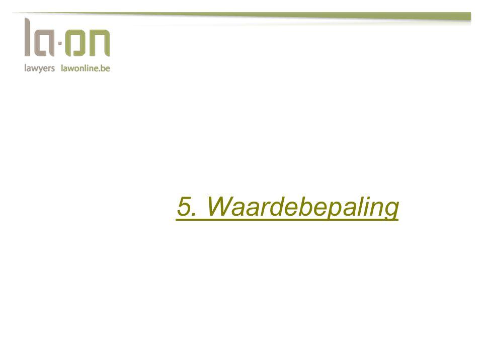 5. Waardebepaling