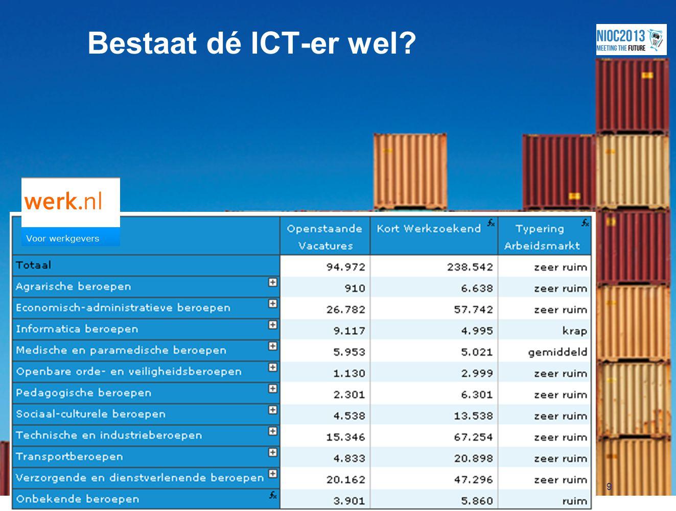 9 Bestaat dé ICT-er wel