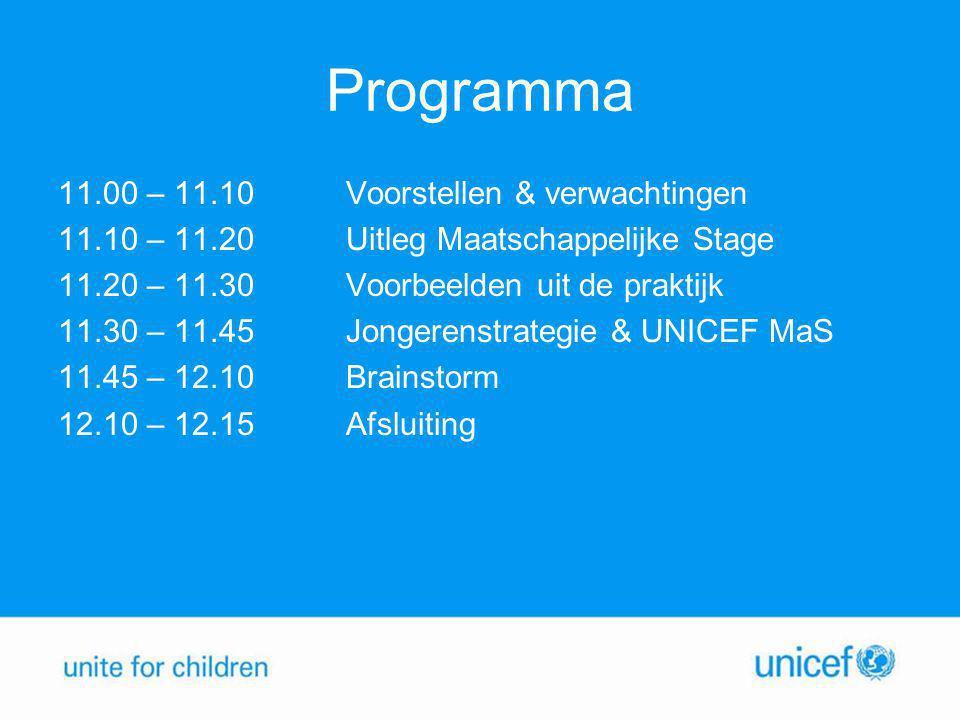 Programma 11.00 – 11.10Voorstellen & verwachtingen 11.10 – 11.20Uitleg Maatschappelijke Stage 11.20 – 11.30 Voorbeelden uit de praktijk 11.30 – 11.45J