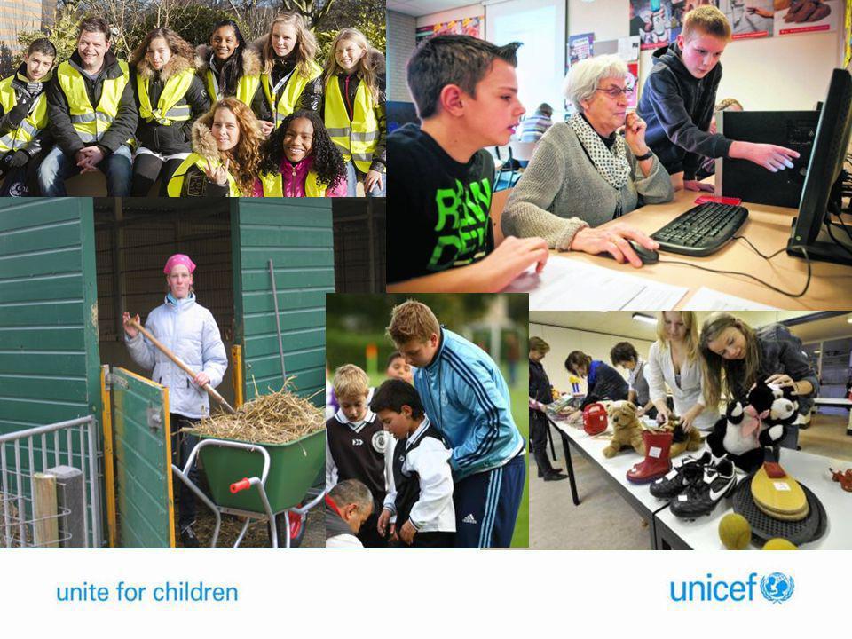 UNICEF en MaS • Jongeren komen zelf in beweging voor kinderrechten • Biedt mogelijkheden voor vrijwilligers • Ongeveer 10 tot 15 RCU's zijn bezig met MaS • Op unicef.nl is er bijv in februari 150 keer gezocht op MaS