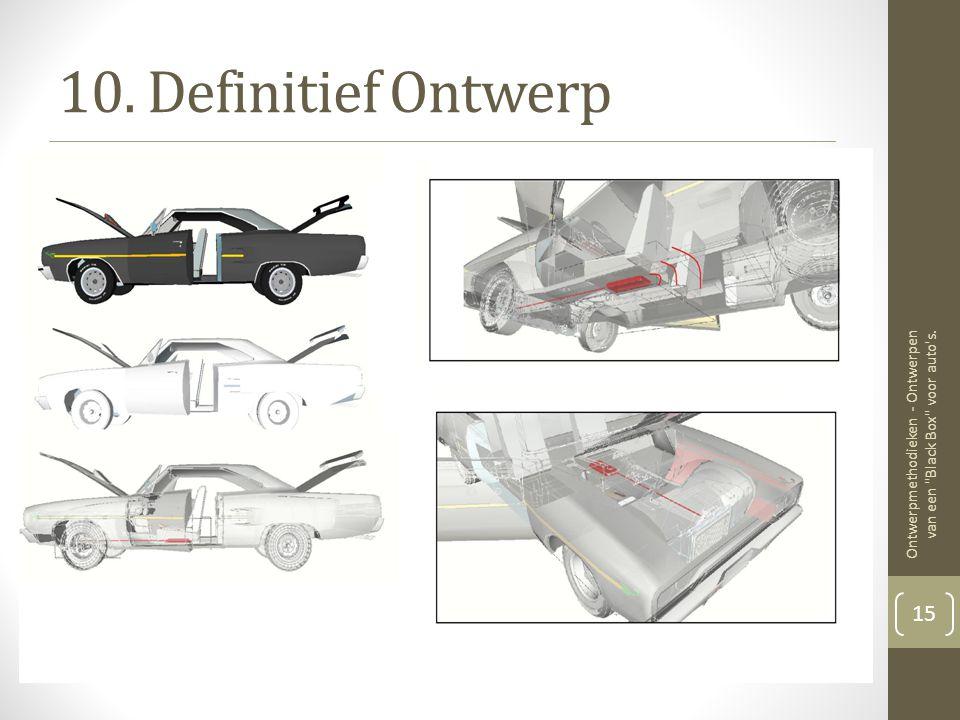 10. Definitief Ontwerp Ontwerpmethodieken - Ontwerpen van een Black Box voor auto s. 15