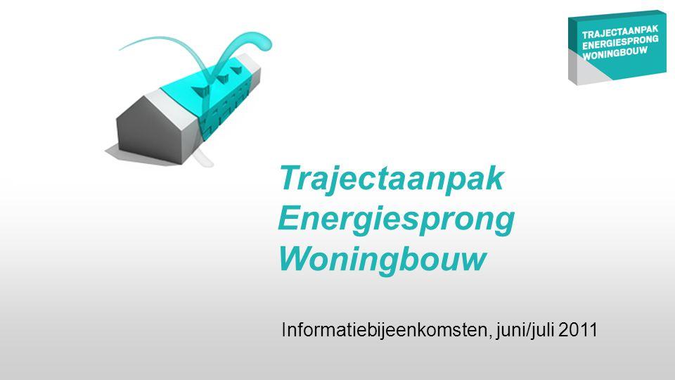 Trajectaanpak Energiesprong Woningbouw Informatiebijeenkomsten, juni/juli 2011
