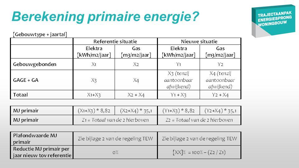 Berekening primaire energie