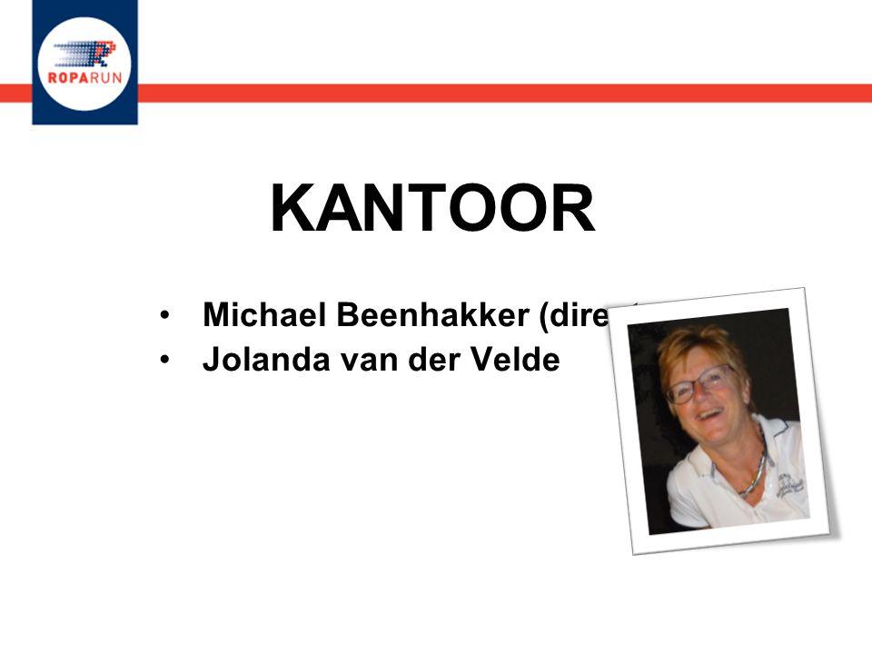 KANTOOR •Michael Beenhakker (directeur) •Jolanda van der Velde •Michael Beenhakker (directeur) •Jolanda van der Velde