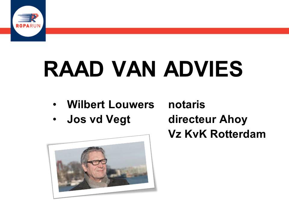 RAAD VAN ADVIES •Wilbert Louwers notaris •Jos vd Vegt directeur Ahoy Vz KvK Rotterdam •Wilbert Louwers notaris •Jos vd Vegt directeur Ahoy Vz KvK Rott