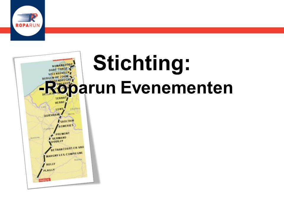 Stichting: -Roparun Evenementen