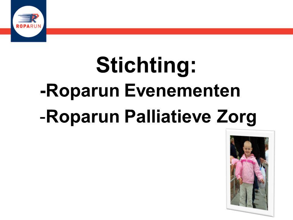 Stichting: -Roparun Evenementen -Roparun Palliatieve Zorg -Roparun Evenementen -Roparun Palliatieve Zorg