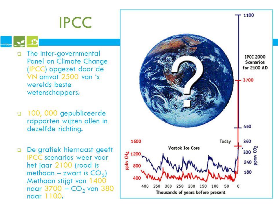 IPCC  The Inter-governmental Panel on Climate Change (IPCC) opgezet door de VN omvat 2500 van 's werelds beste wetenschappers.  100, 000 gepubliceer