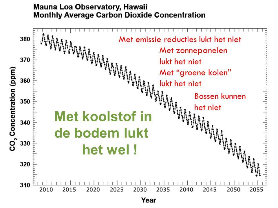 """Met emissie reducties lukt het niet Met zonnepanelen lukt het niet Met """"groene kolen"""" lukt het niet Met koolstof in de bodem lukt het wel ! Bossen kun"""