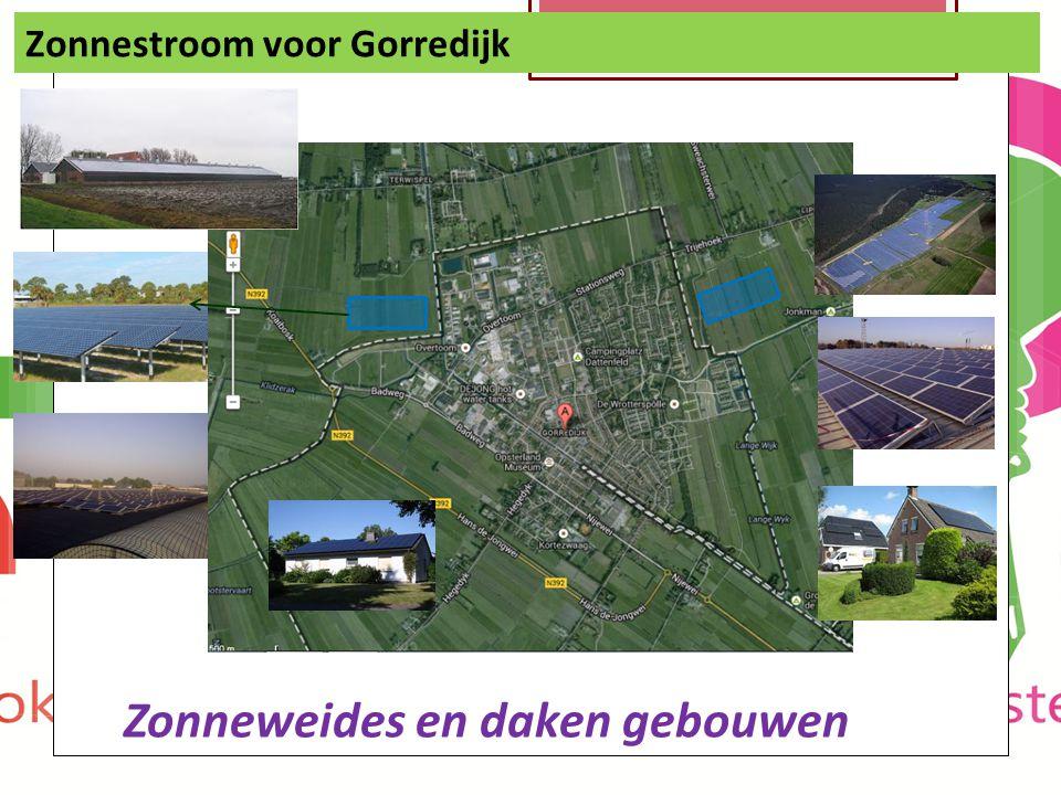 Zonnestroom voor Gorredijk Zonneweides en daken gebouwen