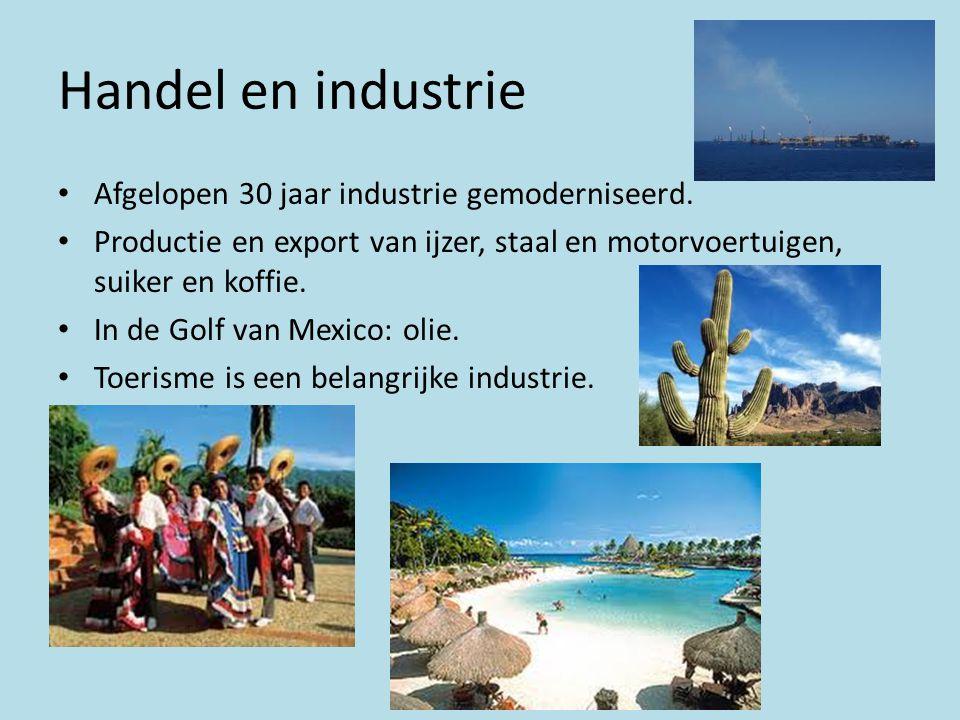 Handel en industrie • Afgelopen 30 jaar industrie gemoderniseerd. • Productie en export van ijzer, staal en motorvoertuigen, suiker en koffie. • In de