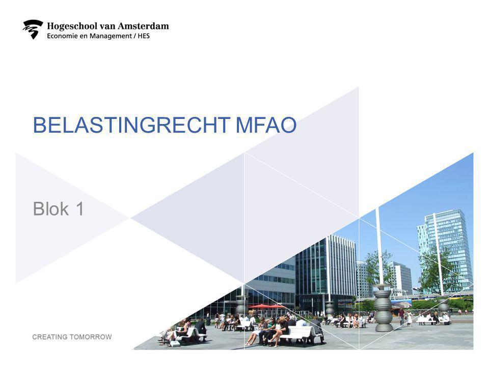 BELASTINGRECHT MFAO Blok 1 2
