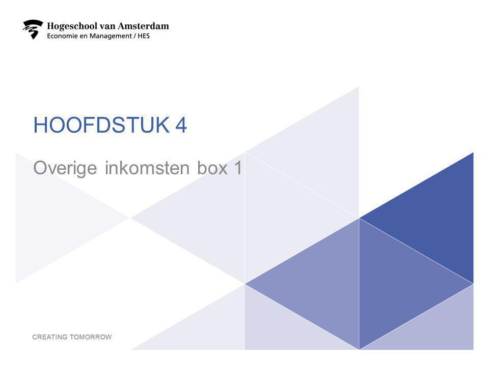 HOOFDSTUK 4 Overige inkomsten box 1 26