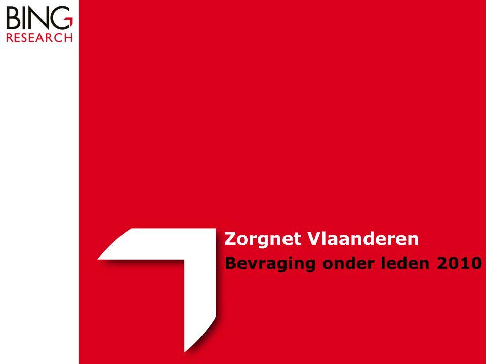 Bevraging onder leden 2010 Zorgnet Vlaanderen